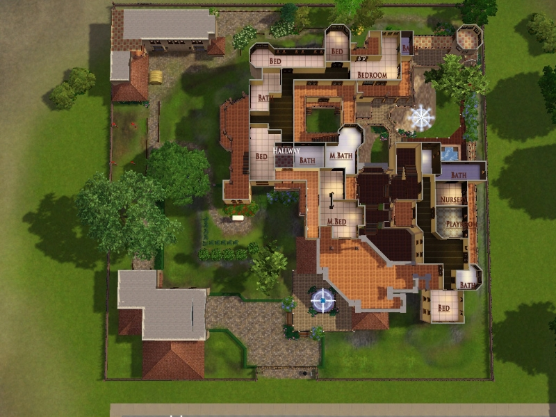 Sims 3 Mansion Floor Plans Pictures To Pin On Pinterest