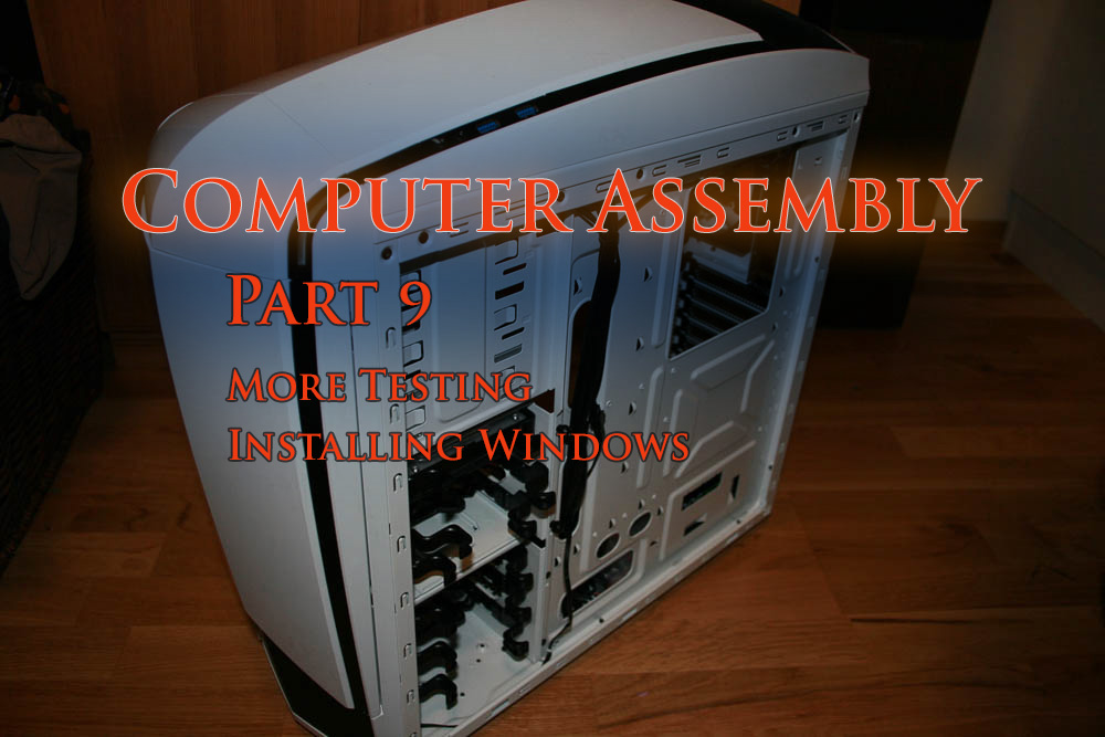 Putting together my first computer, part 9