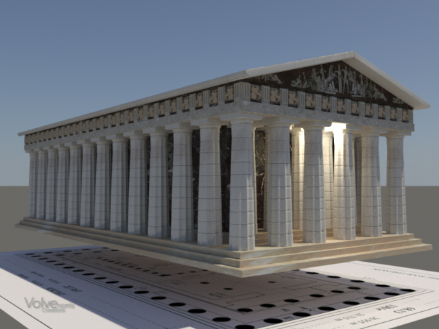 Finished off Parthenon
